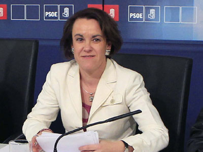 Purificación Causapié, secretaria de Igualdad del PSOE, se ha reunido con los sindicatos.