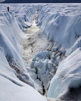 El glaciar Petermann, en Groenlandia. AFP