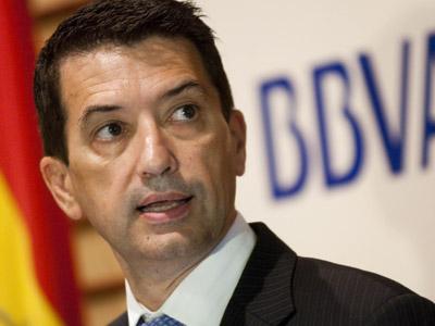 Rafael Domenech, economista jefe del BBVA para Europa y España, en el club Antares de Sevilla. Raul Caro