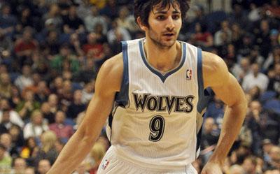Ricky Rubio, en un partido con los Timberwolves.