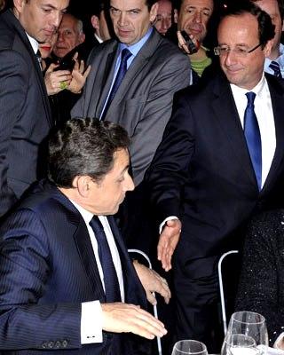 Hollande ofrece su mano a Sarkozy hoy en una reunión de organizaciones judías.