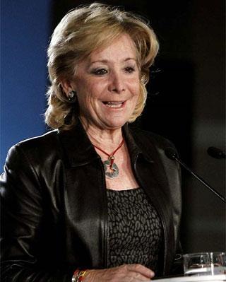 La presidenta de la Comunidad de Madrid, Esperanza Aguirre - EFE