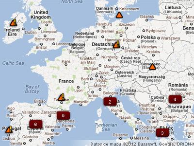 Imagen del mapa que denuncia los casos de racismo.