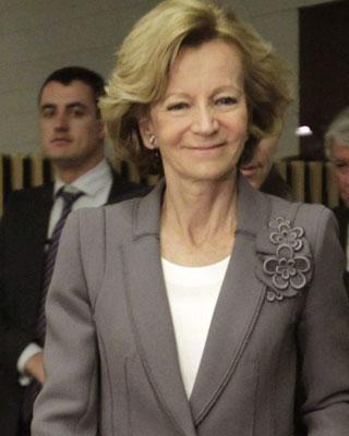 Elena Salgado, exministra de Economía.