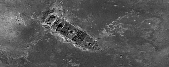Imagen del Titanic creada a partir de 100.000 fotografías tomadas por robots submarinos autónomos.-AP