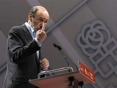 Alfredo Pérez Rubalcaba, el sábado, durante la apertura del 12 Congreso del PSOE de Castilla y León.
