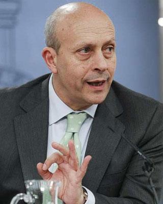El ministro de Educación, Cultura y Deporte, José Ignacio Wert.EFE/Ángel Díaz