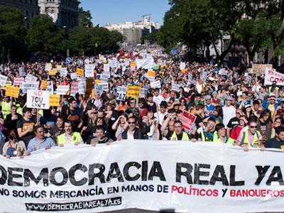 Manifestación de Democracia Real Ya el 15 de mayo de 2011.