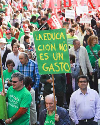 Marea verde en Madrid. Á. NAVARRETE