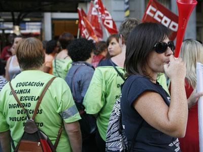 Manifestación en Madrid contra los recortes en Educación Infantil. G.DEL RÍO