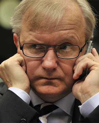 Olli Rehn, en el Ecofin. AFP PHOTO GEORGES GOBET