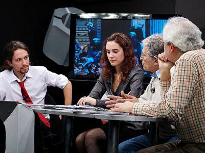Fotograma del debate La Tuerka de Tele K.