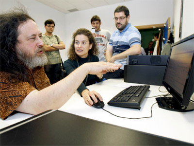 Richard Stallman en unas jornadas de informática de la Universidad de Murcia, este mes.-Juan Francisco Moreno/EFE