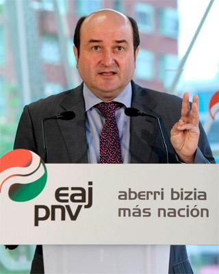 El presidente del PNV de Bizkaia, Andoni Ortuzar, hoy.-Alfredo Aldai/EFE