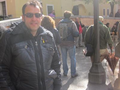 Miguel Ángel, en la Asamblea de Malasaña.