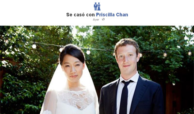 Captura del perfil de Zuckerberg en Facebook.-
