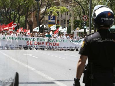 Protesta a favor de la educación pública.