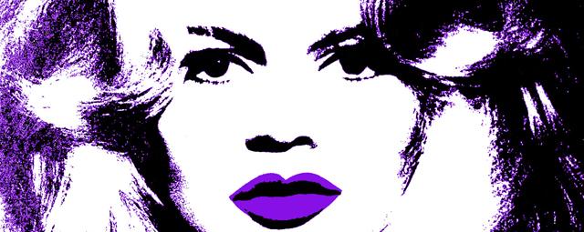Detalle del retrato de la actriz y cantante Brigitte Bardot realizado por Andy Warhol.
