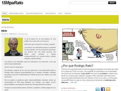 Vista de la página web '15MpaRato'.