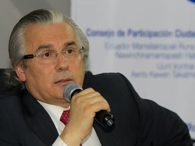 Foto de archivo del juez español Baltasar Garzón, en Quito. EFE