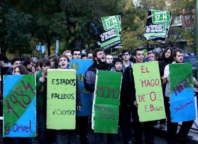 Manifestación estudiantil del 17 de noviembre.- Jairo Vargas