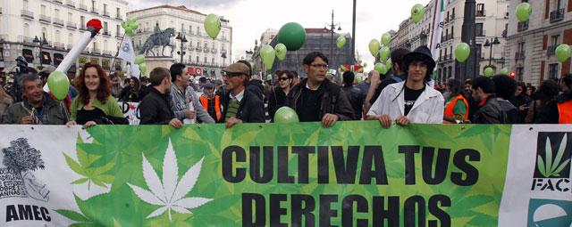 La marcha transcurrió entre la Puerta del Sol y la Plaza de Oriente de Madrid. EFE