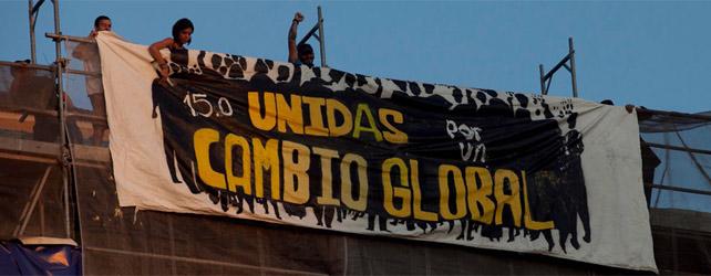 Pancarta en la Puerta del Sol en la protesta del 15-O. - GABRIEL PECOT