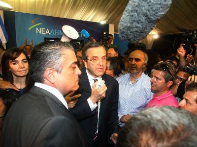 El líder del partido conservador Nueva Democracia, Antonis Samarás