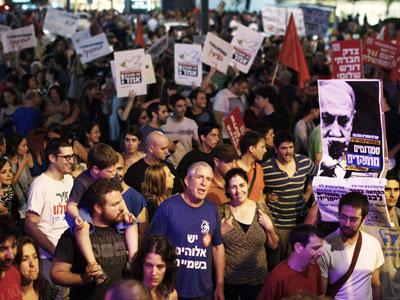 Manifestantes israelíes en Tel Aviv. REUTERS