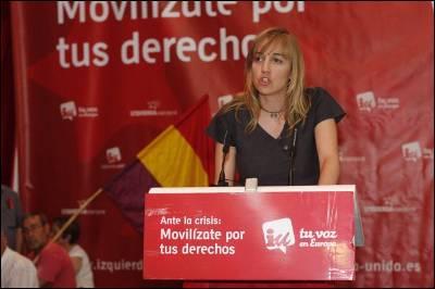 La diputada de la asamblea de Madrid, Tania Sánchez - GUILLERMO SANZ