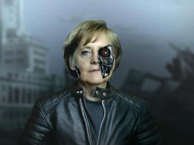 La revista británica New Statesman muestra a Merkel como la protagonista de 'Terminator'.