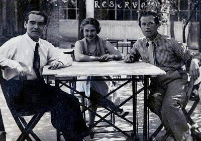 Lorca, María Teresa León y Rafael Alberti