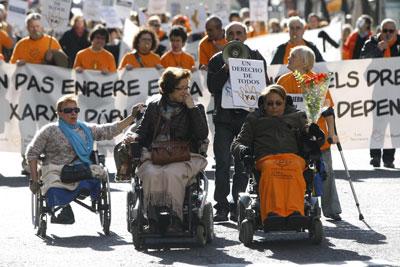 Manifestación por la Ley de Dependencia
