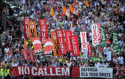 Imagen de la manifestación en Barcelona.- LLUIS GENE (AFP)