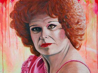 Uno de los retratos de Javier Larrauri qu pueden verse en su exposición 'Testigos de un tiempo maldito'.