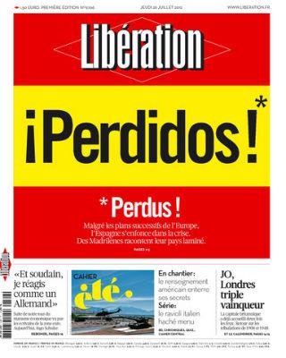 Portada de hoy del diario francés 'Libération'.