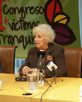Estela de Carlotto, presidenta de Abuelas de Plaza de Mayo. -
