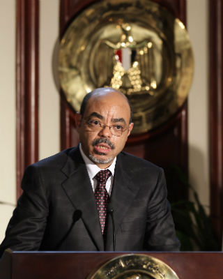 El primer ministro etíope Meles Zenawi en una fotografía de archivo del pasado 17 de septiembre de 2011 en El Cairo.