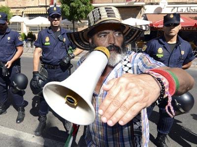 El diputado autonómico y alcalde de Marinaleda, Juan Manuel Sánchez Gordillo. EFE/ Rafa Alcaide