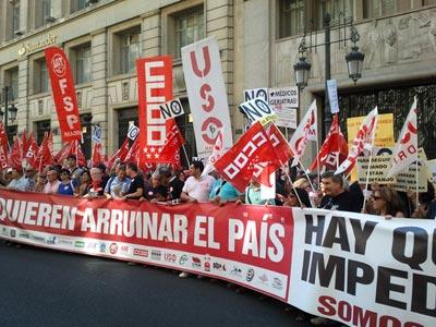 Concentración frente al Ministerio de Hacienda y Administraciones Públicas.