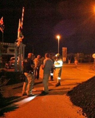 La entrada a la mina bloqueada por los trabajadores - ANSA