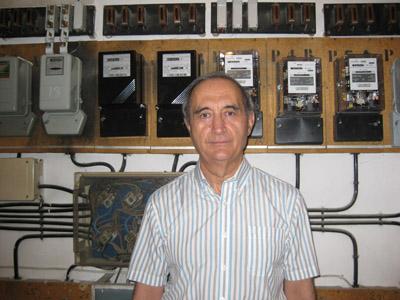 Antonio Moreno en su casa.