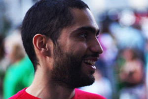El portavoz del Sindicato de Estudiantes, Tohil Delgado.