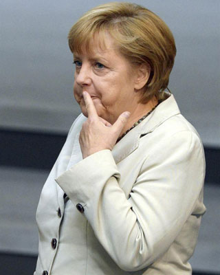 La canciller alemana, Angela Merkel. -