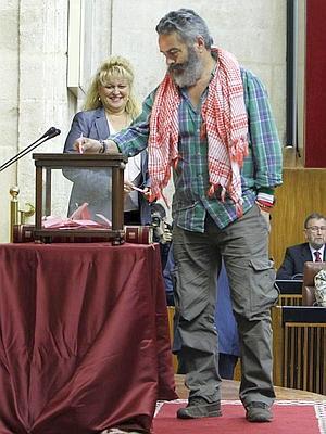 Sanchez Gordillo, en la votación del presidente del Parlamento de Andalucía.