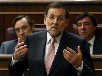 Mariano Rajoy, durante el debate parlamentario del 12 de septiembre. REUTERS/Andrea Comas