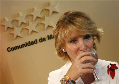 Esperanza Aguirre, 'lideresa' del PP, en una foto de archivo - EFE