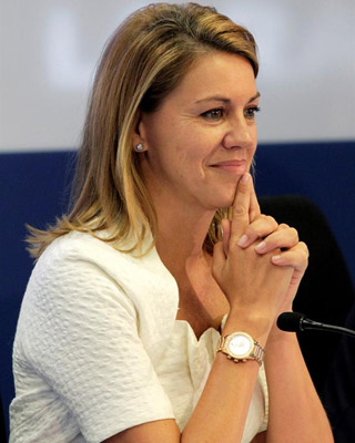 La secretaria general del PP, María Dolores de Cospedal. -