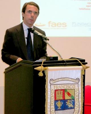 Aznar, durante su intervención