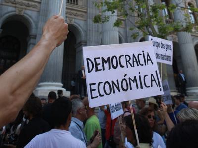 Protesta del 15-M en Madrid.EFE